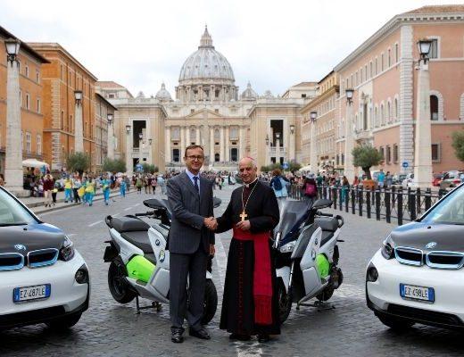 BMW per la mobilità sostenibile del Giubileo