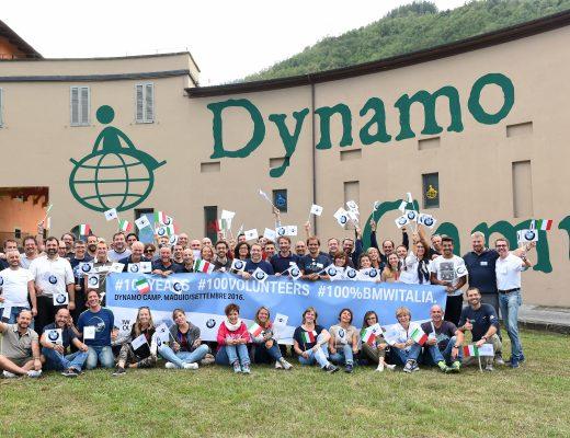 100 volontari BMW al DYnamo Camp