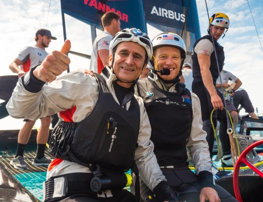 Alex Zanardi a bordo di Oracle Team USA