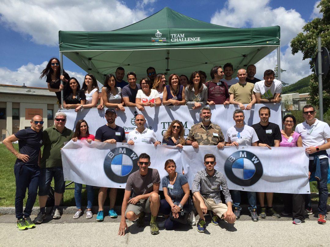 I collaboratori di BMW Group Italia volontari al Dynamo Camp