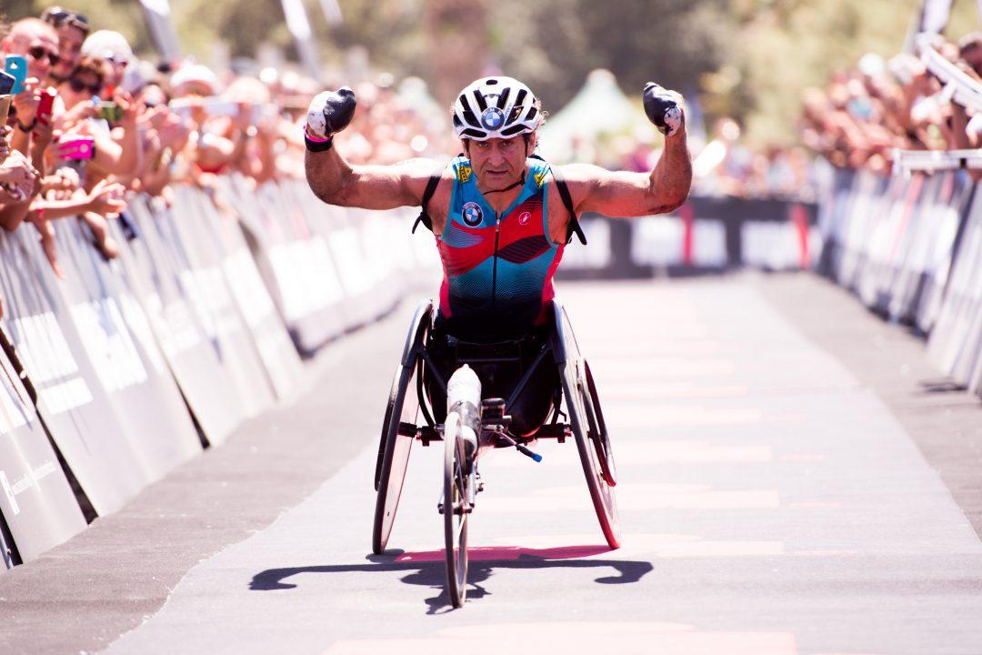 Alex Zanardi protagonista assoluto all'Ironman di Pescara