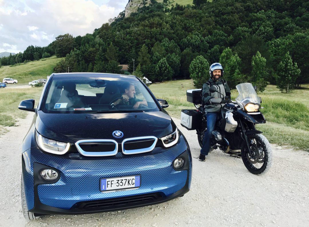 BMW i3 e BMW Motorrad evolution con Neri Marcoré a RisorgiMarche 2017