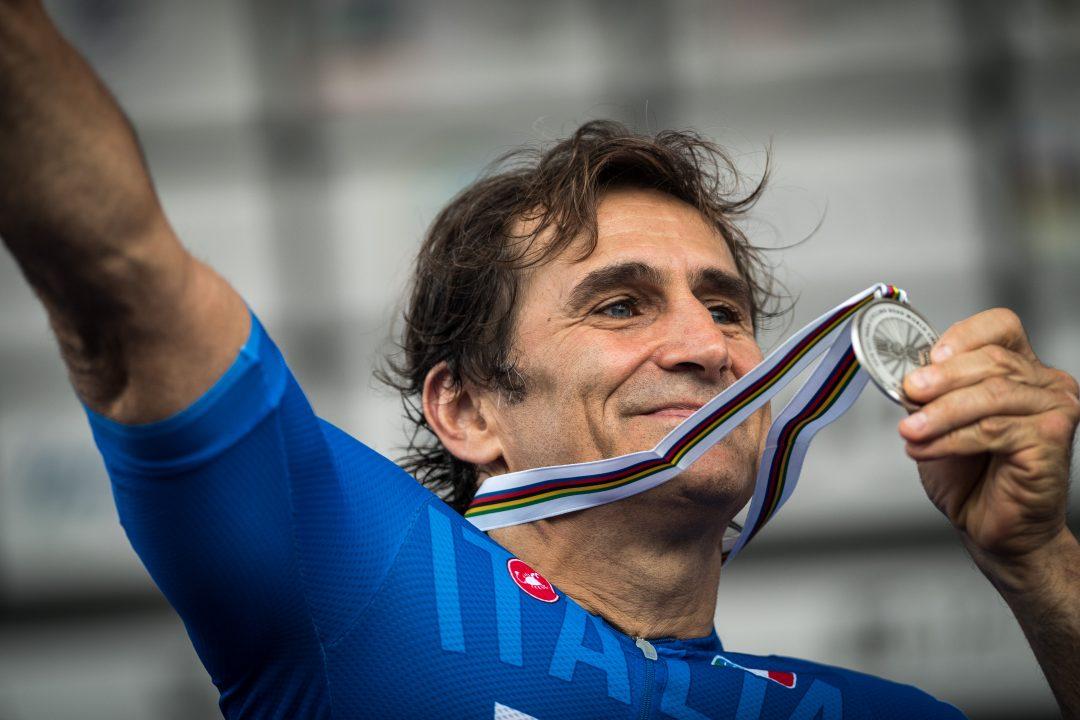 Due medaglie per Alex Zanardi ai mondiali di handbike di Maniago