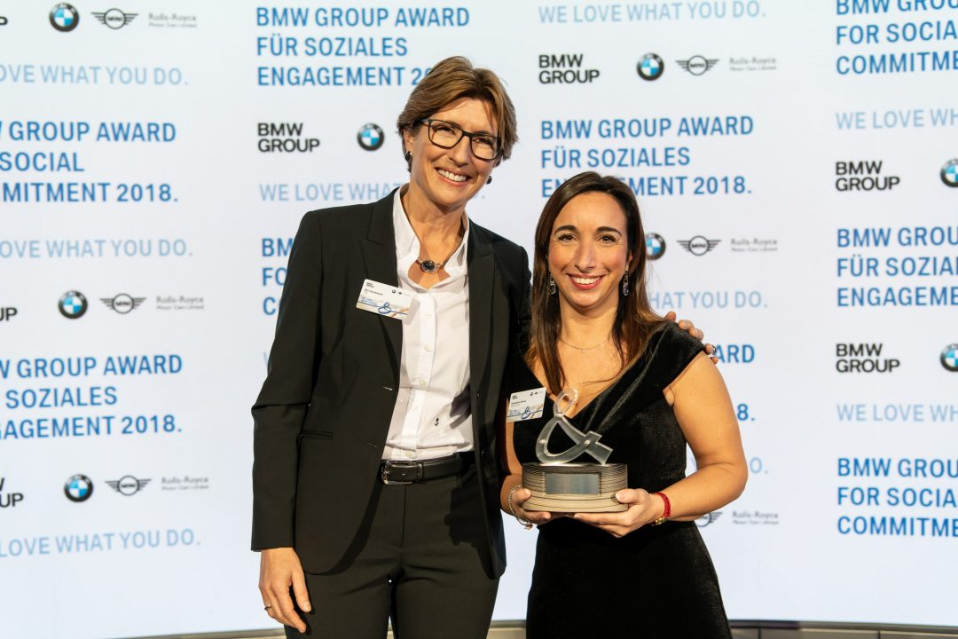Elisabetta Salvati vince il BMW Group Award for social Commitment