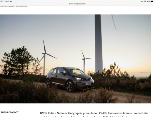 BMW Italia e National Geographic insieme nel branded content I CARE