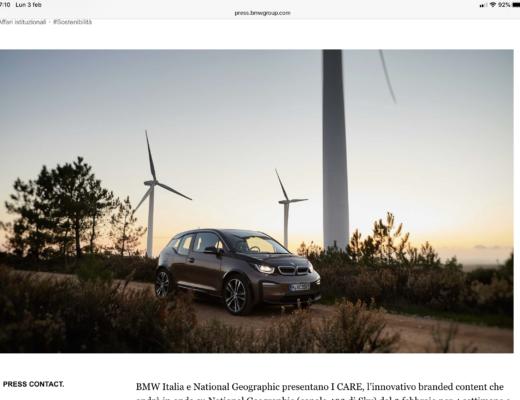 BMW Italia e National Geographic insieme nel branded content I CARE